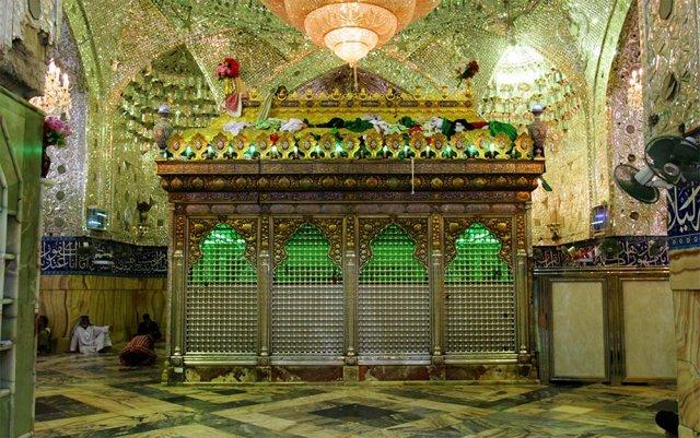 تصاویر قبر مطهر حضرت عباس (ع) بدون ضریح